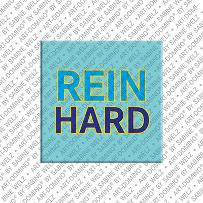 ART-DOMINO® by SABINE WELZ Reinhard - Magnet mit dem Vornamen Reinhard