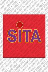 ART-DOMINO® by SABINE WELZ Sita - Magnet mit dem Vornamen Sita