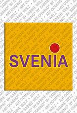 ART-DOMINO® by SABINE WELZ Svenia - Magnet mit dem Vornamen Svenia