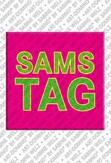 ART-DOMINO® by SABINE WELZ Samstag - Magnet mit dem Wort Samstag