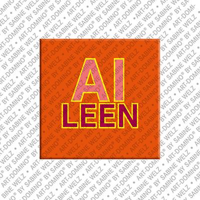 ART-DOMINO® BY SABINE WELZ Aileen - Magnet mit dem Vornamen Aileen