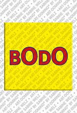 ART-DOMINO® by SABINE WELZ Bodo - Magnet mit dem Vornamen Bodo