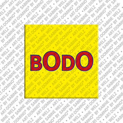 ART-DOMINO® by SABINE WELZ Bodo - Magnet with the name Bodo