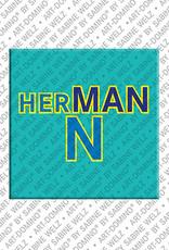 ART-DOMINO® by SABINE WELZ Hermann - Magnet mit dem Vornamen Hermann