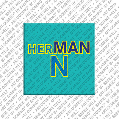 ART-DOMINO® by SABINE WELZ Hermann - Magnet with the name Hermann