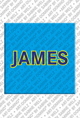 ART-DOMINO® by SABINE WELZ James - Magnet with the name James