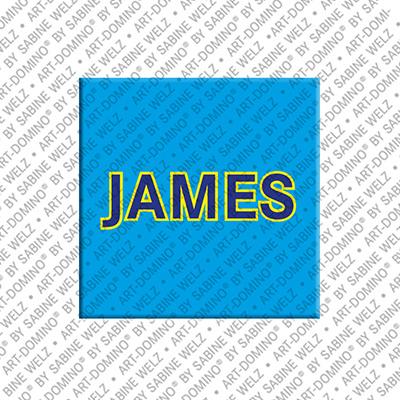ART-DOMINO® BY SABINE WELZ James - Magnet mit dem Vornamen James