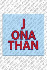 ART-DOMINO® by SABINE WELZ Jonathan - Magnet mit dem Vornamen Jonathan