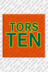 ART-DOMINO® by SABINE WELZ Torsten - Magnet mit dem Vornamen Torsten