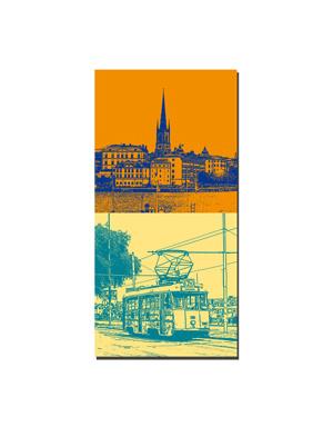 ART-DOMINO® BY SABINE WELZ Stockholm - Riddarholm + Strassenbahn
