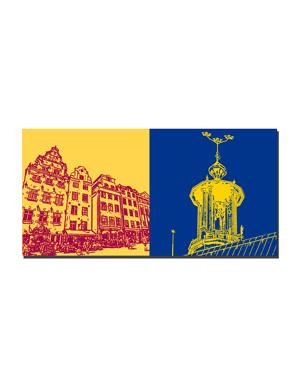 ART-DOMINO® BY SABINE WELZ Stockholm - Gamla Stan + Stadshuset-3 Kronen