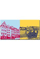 ART-DOMINO® by SABINE WELZ Stockholm - Gamla Stan + Blick königl. Schloß+Krone