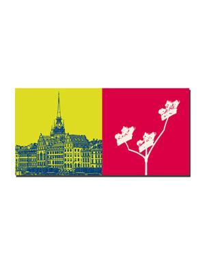 ART-DOMINO® by SABINE WELZ Stockholm - Altstadt-Gamla Stan + Stadshuset-3 Kronen