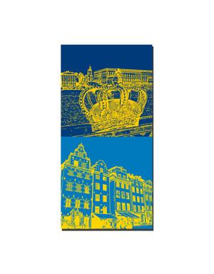 ART-DOMINO® BY SABINE WELZ Stockholm - Blick königl. Schloß+Krone + Gamla Stan
