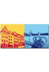 ART-DOMINO® by SABINE WELZ Stockholm - Gamla Stan + Krone + Segelschiff