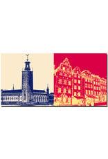 ART-DOMINO® BY SABINE WELZ Stockholm - Stadshuset + Gamla Stan