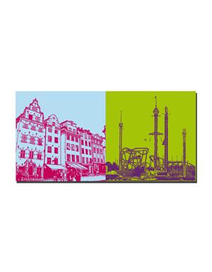 ART-DOMINO® by SABINE WELZ Stockholm - Gamla Stan + Tivoli Gröna Lund