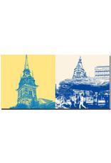 ART-DOMINO® by SABINE WELZ Stockholm - Deutsche Kirche + Stuteplan mit Pilz