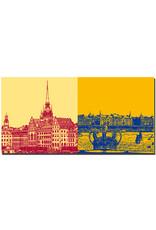 ART-DOMINO® by SABINE WELZ Stockholm - Altstadt-Gamla Stan + Altstadt Skyline