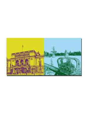 ART-DOMINO® BY SABINE WELZ Stockholm - Oper + Krone + Segelschiff