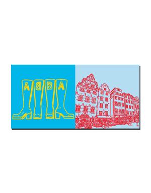 ART-DOMINO® by SABINE WELZ Stockholm - ABBA - Museum + Gamla Stan