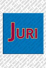 ART-DOMINO® by SABINE WELZ Juri - Magnet with the name Juri