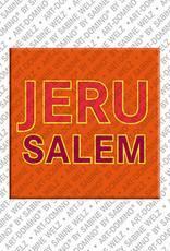 ART-DOMINO® BY SABINE WELZ Jerusalem - Schriftzug