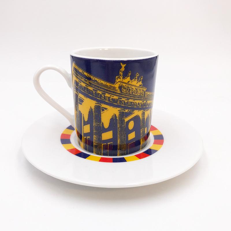 ART-DOMINO® by SABINE WELZ Berlin Espressotasse 04 - Brandenburger Tor + Fernsehturm