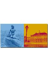 ART-DOMINO® BY SABINE WELZ Kopenhagen - Meerjungfrau + Schloss Amalienborg