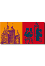 ART-DOMINO® BY SABINE WELZ Kopenhagen - Schloss Rosenborg + Wachablösung