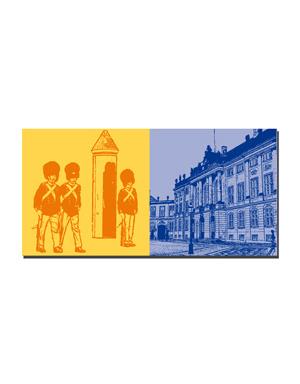 ART-DOMINO® BY SABINE WELZ Kopenhagen - Wachablösung + Schloss Amalienborg