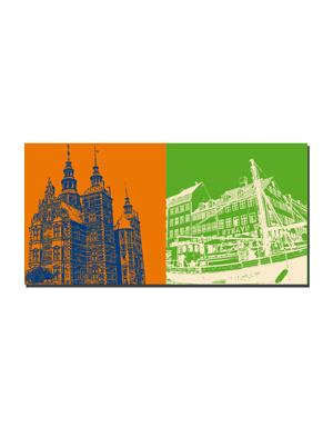 ART-DOMINO® BY SABINE WELZ Kopenhagen - Schloss Rosenborg + Nyhavn