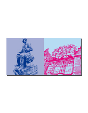 ART-DOMINO® BY SABINE WELZ Kopenhagen - Hans Chr. Andersen + Tivoli
