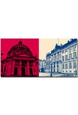 ART-DOMINO® BY SABINE WELZ Kopenhagen - Marble Church + Schloss Amalienborg