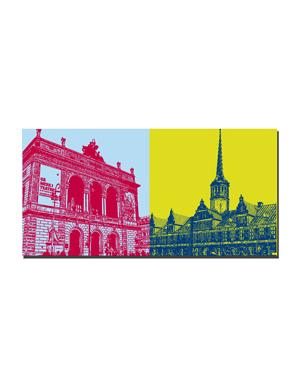 ART-DOMINO® BY SABINE WELZ Kopenhagen - Altes Königliches Theater + Börse