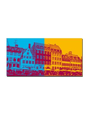 ART-DOMINO® BY SABINE WELZ Kopenhagen - Nyhavn-Skyline 1 + Nyhavn-Skyline 2