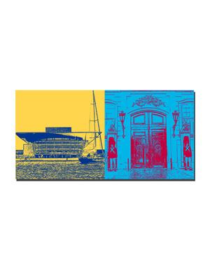 ART-DOMINO® BY SABINE WELZ Kopenhagen - Oper + Königliche Wache
