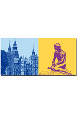 ART-DOMINO® BY SABINE WELZ Kopenhagen - Schloss Rosenborg + Meerjungfrau