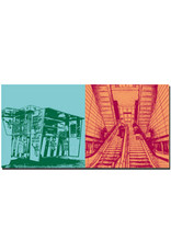 ART-DOMINO® BY SABINE WELZ Kopenhagen - Hot-Dog-Stand + Metro-Station