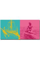 ART-DOMINO® BY SABINE WELZ Kopenhagen - Königliche Yacht + Meerjungfrau