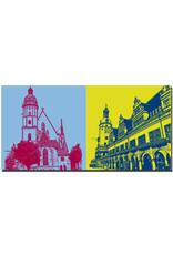 ART-DOMINO® BY SABINE WELZ Leipzig - Thomaskirche + Altes Rathaus