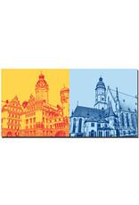 ART-DOMINO® BY SABINE WELZ Leipzig - Neues Rathaus + Thomaskirche