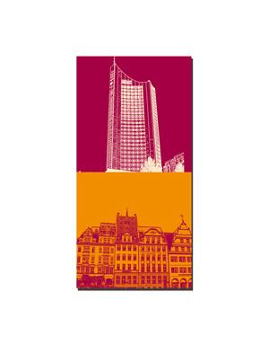 ART-DOMINO® BY SABINE WELZ Leipzig - Cityhochhaus + Markthäuser