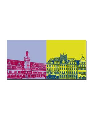 ART-DOMINO® BY SABINE WELZ Leipzig - Altes Rathaus + Markt-Häuser