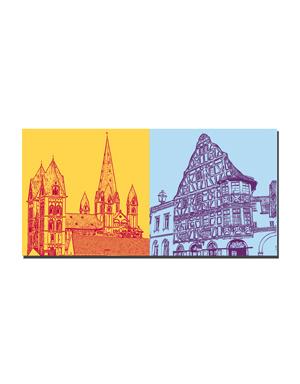 ART-DOMINO® BY SABINE WELZ Limburg - Dom mit 7 Türmen + Bischofsplatz