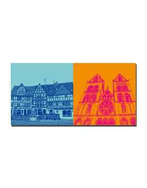 ART-DOMINO® BY SABINE WELZ Limburg - Plötze, Fachwerkhäuser + Dom