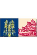 ART-DOMINO® BY SABINE WELZ Limburg - Dom + Bischofsplatz