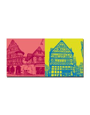 ART-DOMINO® BY SABINE WELZ Limburg - Bischofsplatz + Altstadthaus