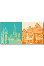 ART-DOMINO® BY SABINE WELZ Limburg - Dom mit 7 Türmen + Fischmarkt/Altstadthäuser
