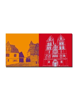 ART-DOMINO® BY SABINE WELZ Limburg - Bischofssitz + Dom